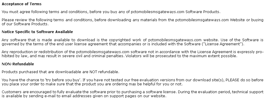 Terms and conditions pc to mobile sms gateways software purchase terms and conditions platinumwayz